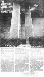 A 1968 advert with an artist&#8217;s rendition of a plane hitting the WTC.